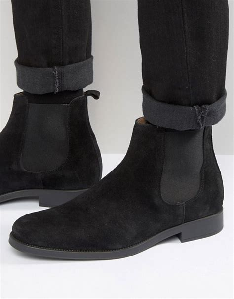 selected homme selected homme oliver suede chelsea boots