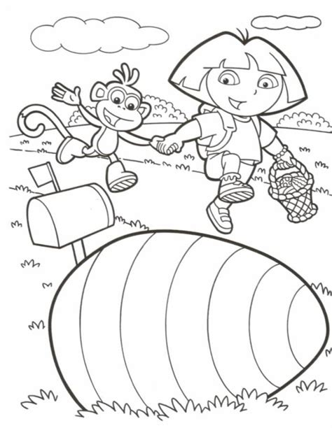 easter coloring pages dora dora easter coloring pages az coloring pages