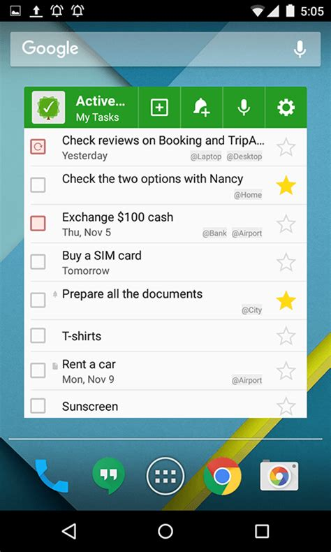 widgets on android android to do list and task list app mylifeorganized