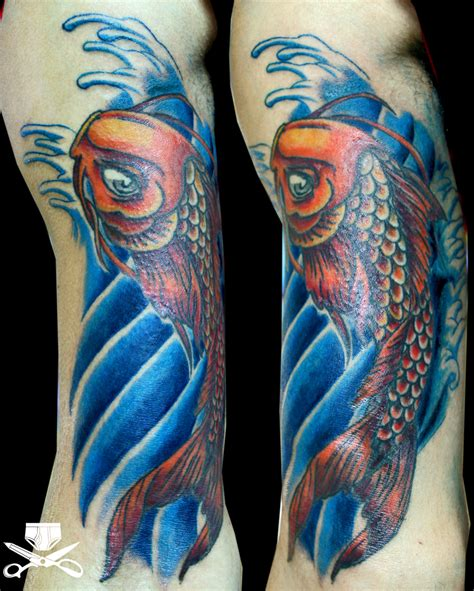 koi fish tattoo color koi fish hautedraws