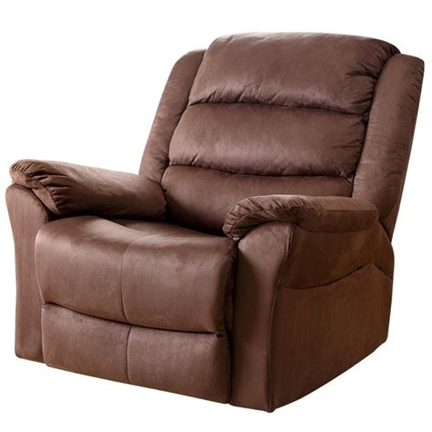 abbyson recliner abbyson living aussie microfiber recliner in almond cr
