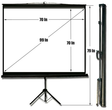 Tripod Screen 70 70 quot x 70 quot tripod projection screen rentals rentex