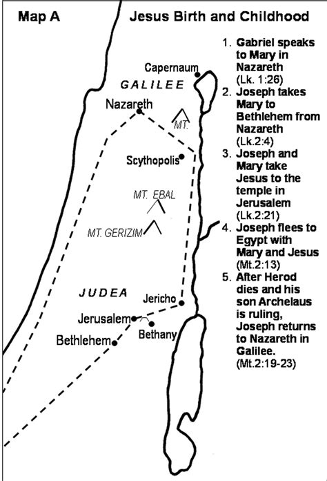 Where Is Jesus Birth Recorded In The Bible Jesus Gospel Ministry Maps