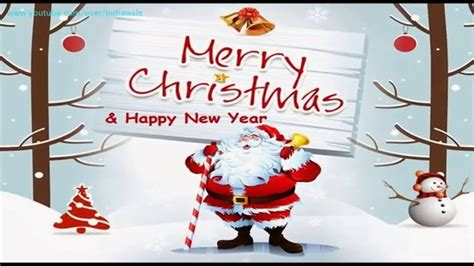 merry christmas happy  year   wishes  card youtube