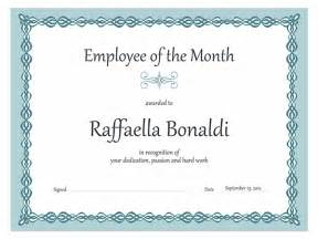 Employee Of The Month Certificate Templates Employee Of The Month Certificate Sample Of Employee Of