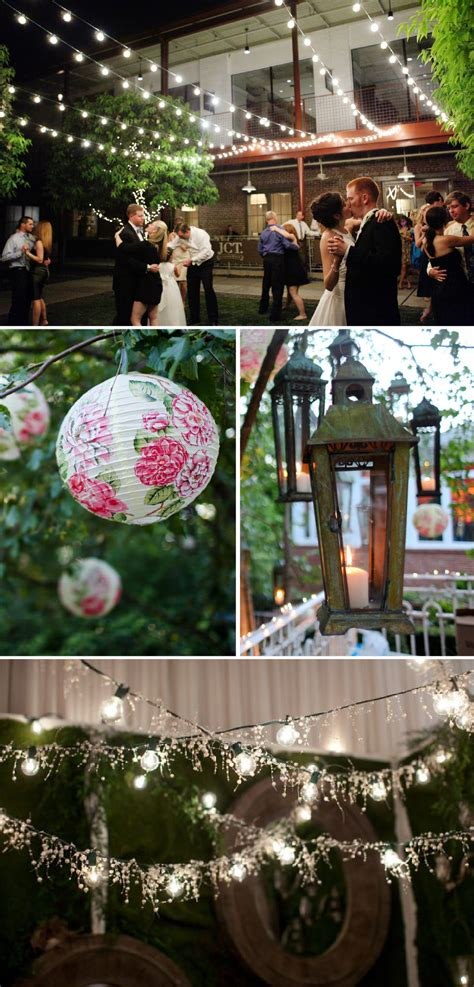Kitchen Decorating Idea Hanging Lights Lanterns At Wedding Receptions The