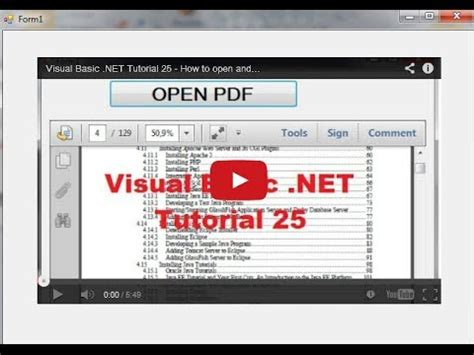 tutorial excel vb net visual basic net tutorial 27 how to add or embed