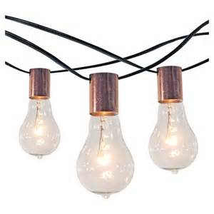 smith and hawken string lights 10ct string lights with copper socket collar with black