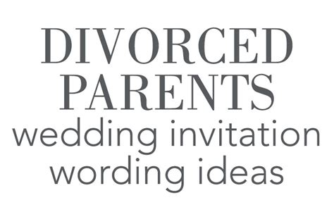 Wedding Invitations With Divorced Parents by Divorced Parents Wedding Invitation Wording Invitations