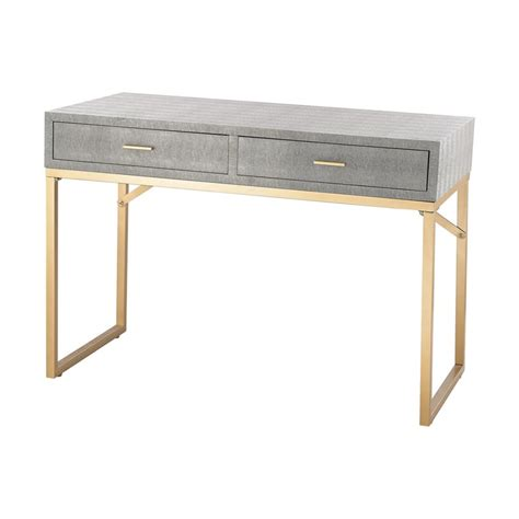 grey and gold desk sterling beaufort writing desk in gold and gray 3169 025t