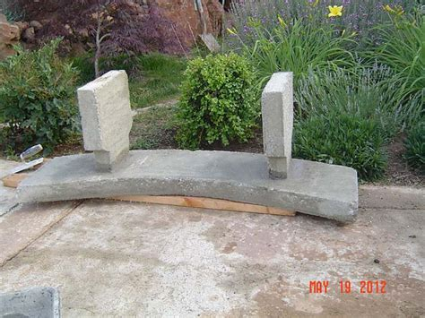 how to make a cement bench concrete garden bench how to make