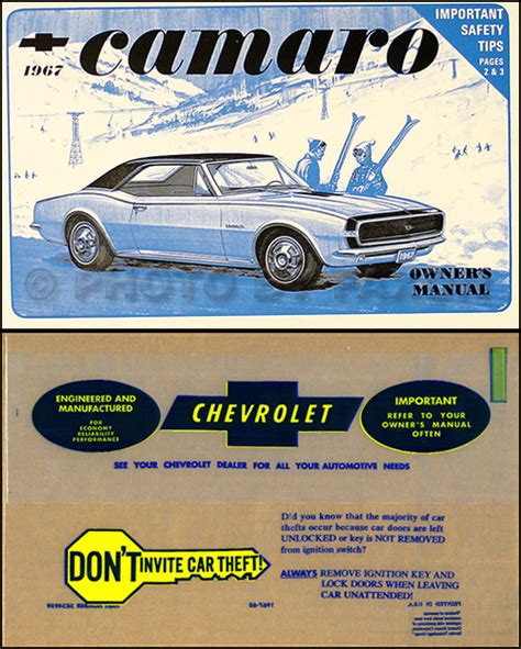 online car repair manuals free 1967 chevrolet camaro electronic valve timing 1967 camaro and z 28 z28 rs ss owners manual with envelope 67 chevy owner guide ebay