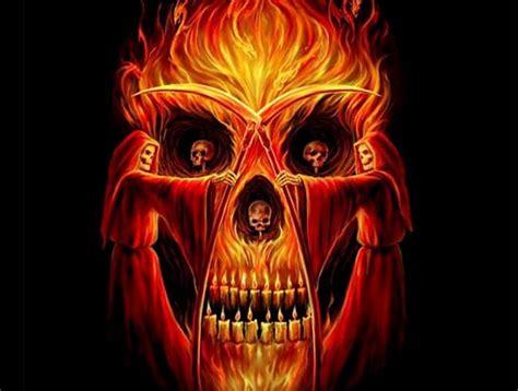 imagenes de calaveras en fuego dibujo calavera fuego