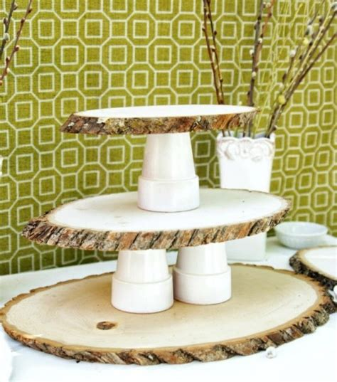 Diy Cupcake Stand Ideas Rustic Diy Woodsy Cupcake Stand Shelterness
