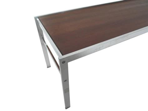 Modern Low Coffee Table Modern Walnut And Chrome Low Coffee Table For Sale At 1stdibs