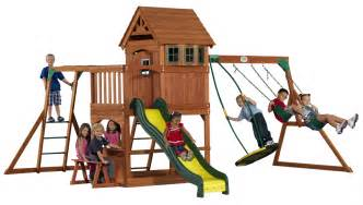 backyard discovery montpelier cedar wooden swing set montpelier all cedar swingset