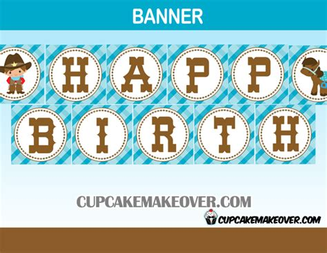 printable cowboy birthday banner product categories western