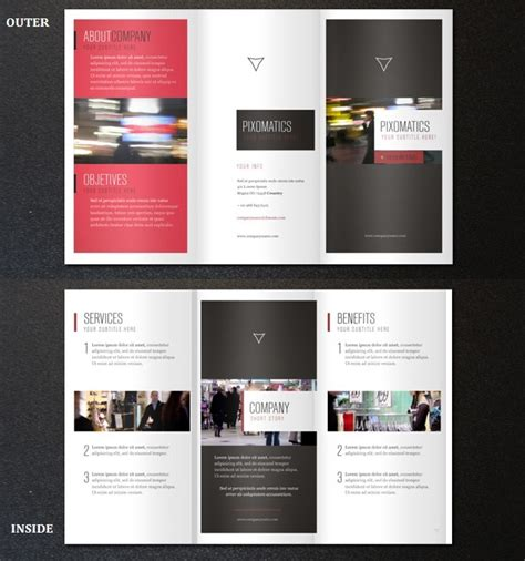 business tri fold brochure templates 29 best free brochure templates