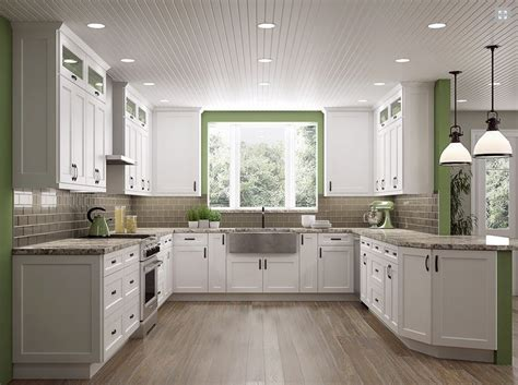 shaker white or antique white kitchen cabinets we ship