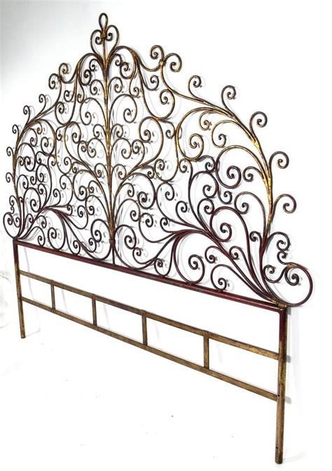 metal king size headboard italian gilt metal king size headboard for sale at 1stdibs