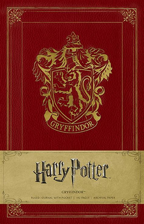 harry potter hogwarts ruled notebook books harry potter gryffindor hardcover ruled journal book by