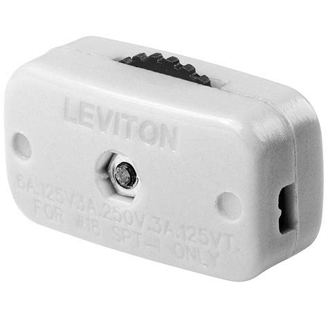 Leviton 6 Amp Mini Thumb Wheel Cord Switch, White R52