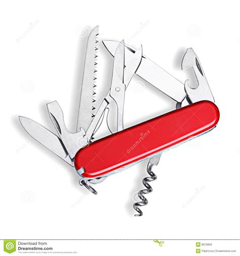 Swiss Army Wb 087black White swiss army knife isolated royalty free stock images