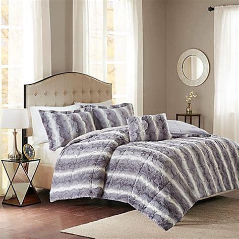 grey california king comforter buy madison park zuri fur king california king comforter