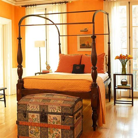 Light Bright Orange Bedroom Interiors By Color Light Orange Bedroom