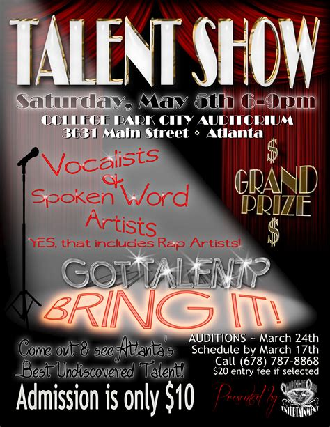 pin talent show flyer template free image search results