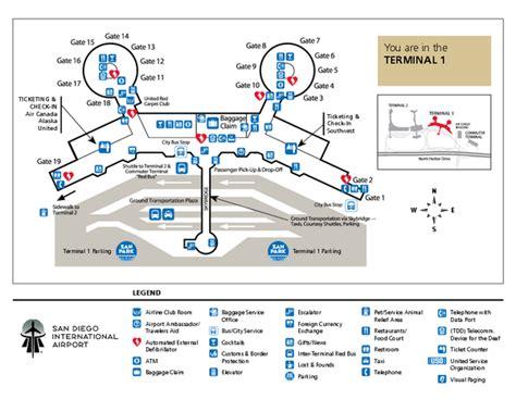 san francisco airport map pdf san diego international airport terminal 1 map san diego