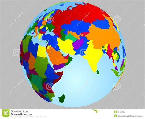 middle east globe map vector middle east globe map stock vector illustration of