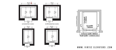 standard dimensions standard lift sizes dimensions for different capacity of
