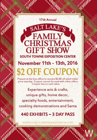 buy tickets for the salt lake family christmas gift show