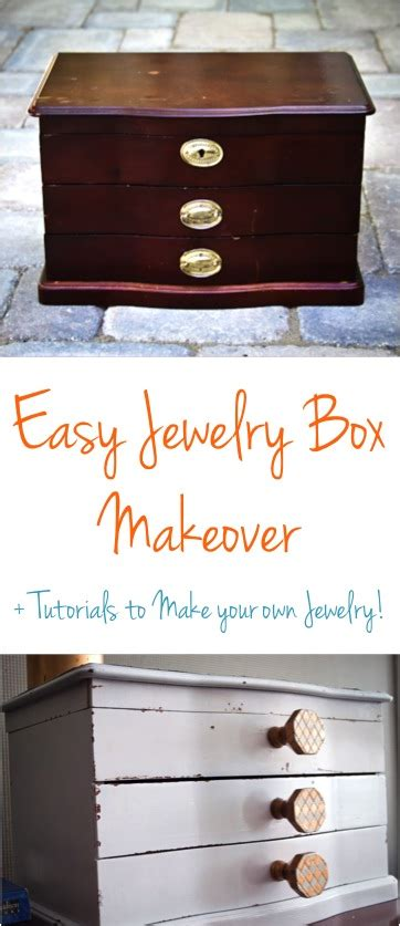 how to make your own jewelry box diy jewelry box makeover the frugal