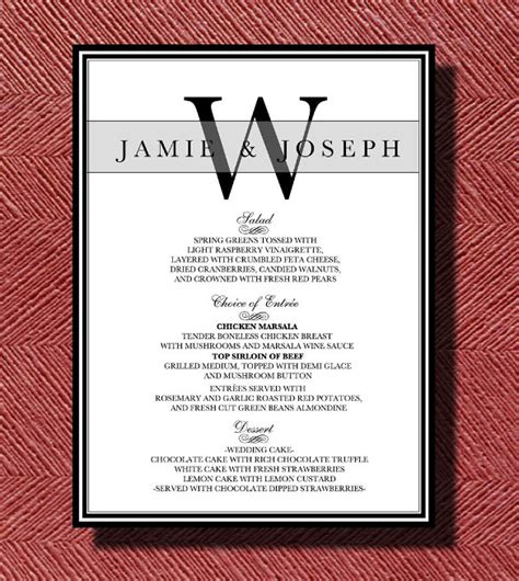 Dinner Menu Templates 36 Free Word Pdf Psd Eps Indesign Format Download Free Premium Reception Menu Template