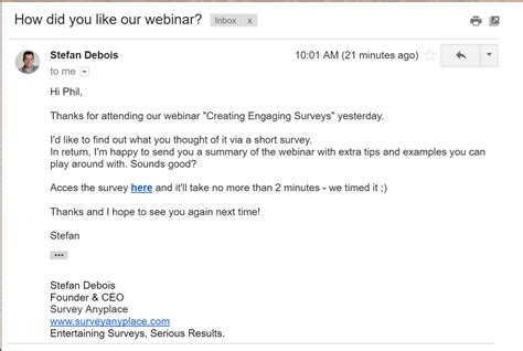 customer survey email template 13 creative ways to measure customer satisfaction
