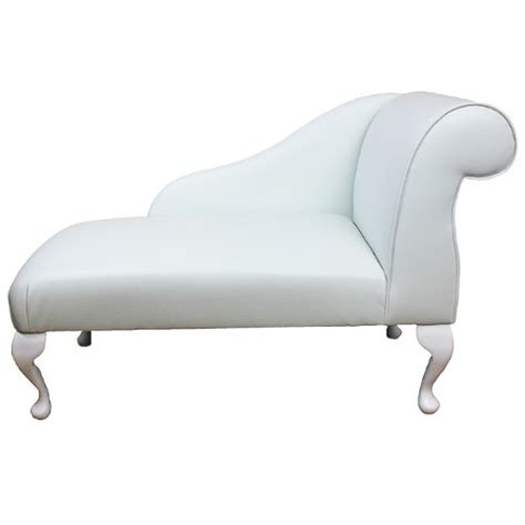 mini chaise 41 mini chaise longue in a white faux leather