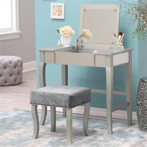home styles vanity table table vanity 90998 amazon elegance vanity makeup table set