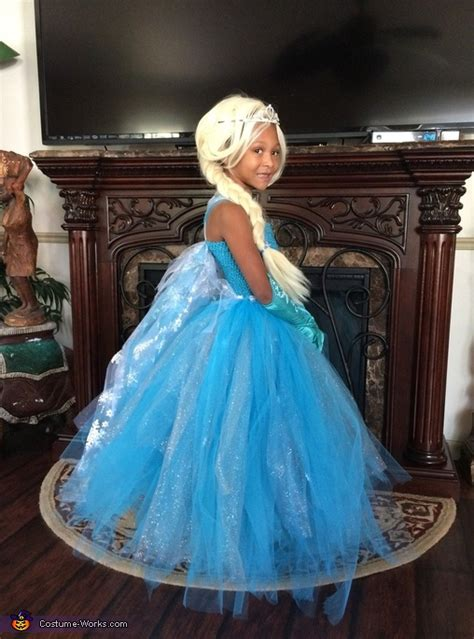 girls elsa  frozen costume creative diy costumes