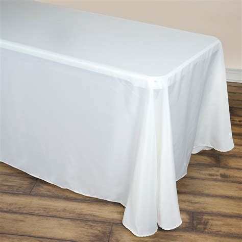 90 x 156 table 90 quot x 156 quot polyester tablecloth with rounded corners