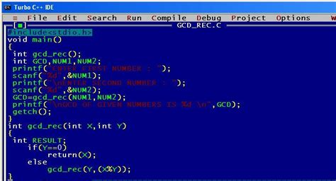 pattern programs in c using recursion a c program to find the gcd of given numbers using