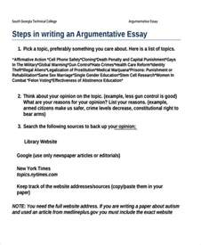 Sle Argument Essay argumentative essay sle college 28 images outline of