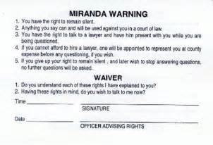 printable rights card miranda rights advanced legal research spring 2012