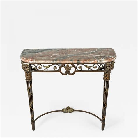 iron and marble table wrought iron and marble console table