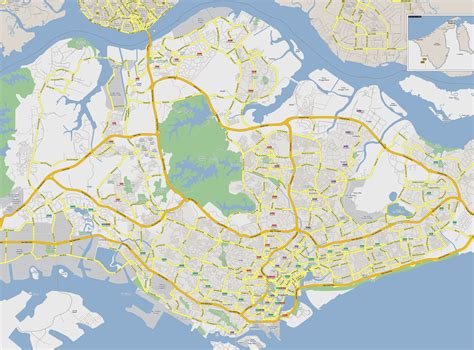 detailed map of maps of singapore detailed map of singapore in