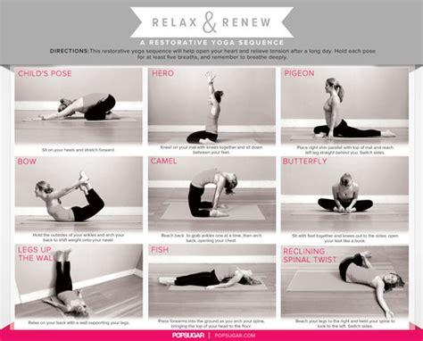 printable yoga poses for stress restorative yoga sequence printable grcom info