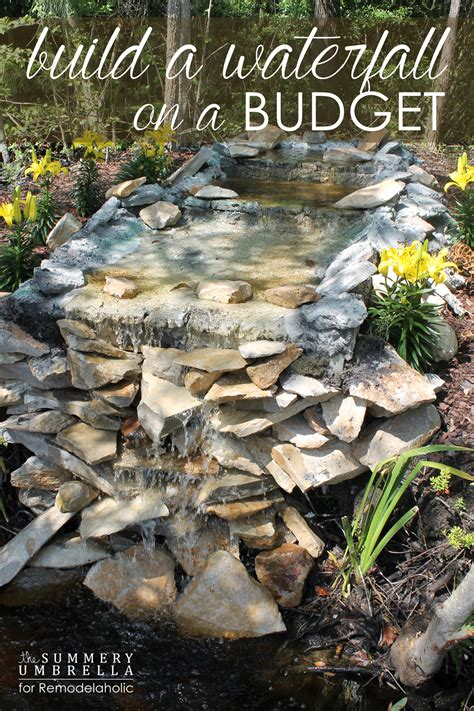how to build a waterfall on a budget that you will love