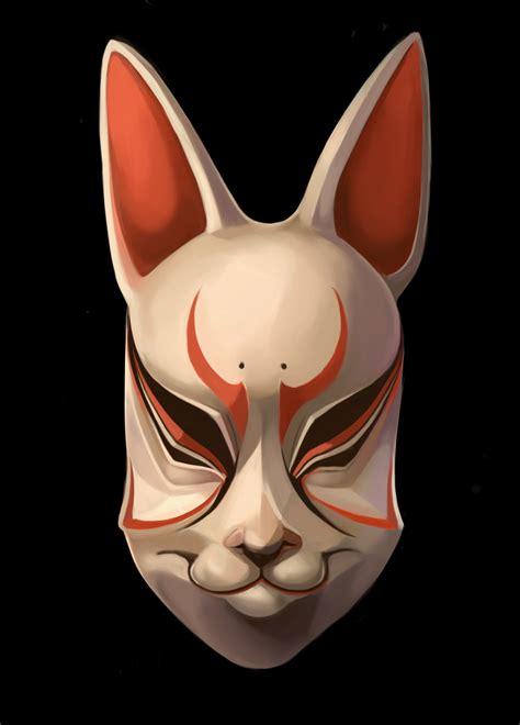 tattoo animal mask traditional japanese masks kitsune noh mask by