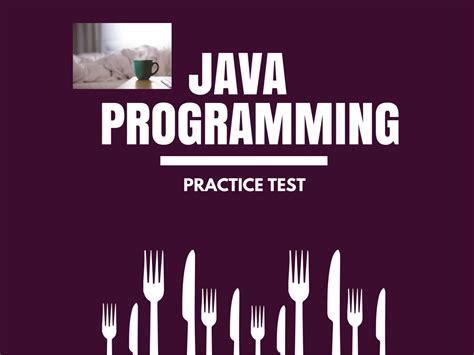 test java java programming practice test for beginners
